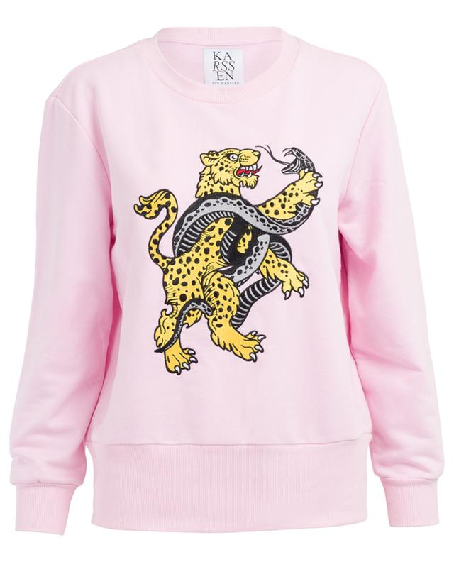 Embroidered cotton blend sweatshirt ZOE KARSSEN