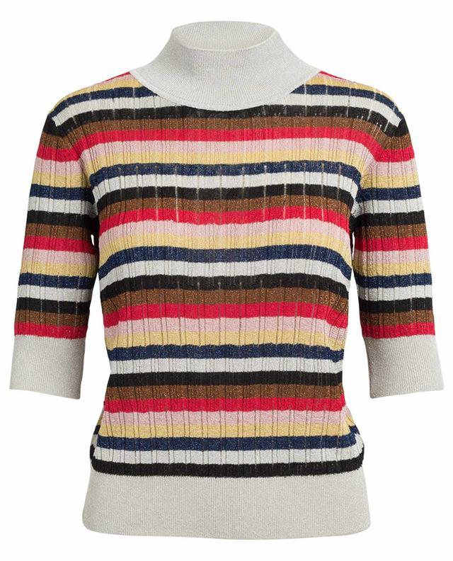 Short sleeved metallic knit jumper SONIA RYKIEL