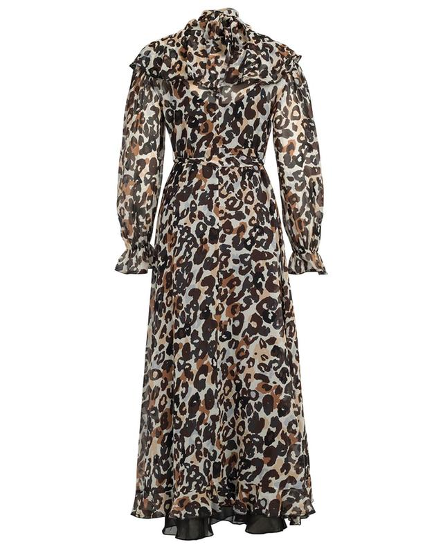 Long printed silk dress SONIA RYKIEL