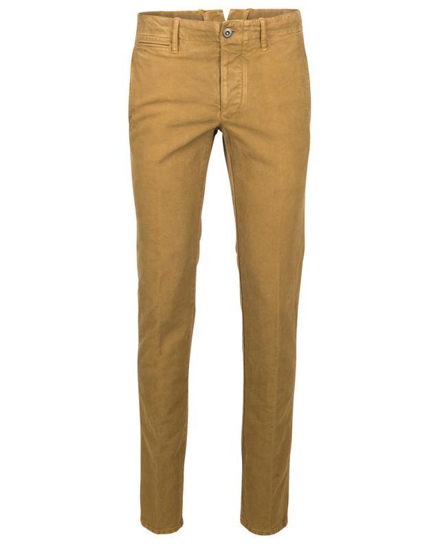 Pantalon à pinces slim en coton mélangé INCOTEX