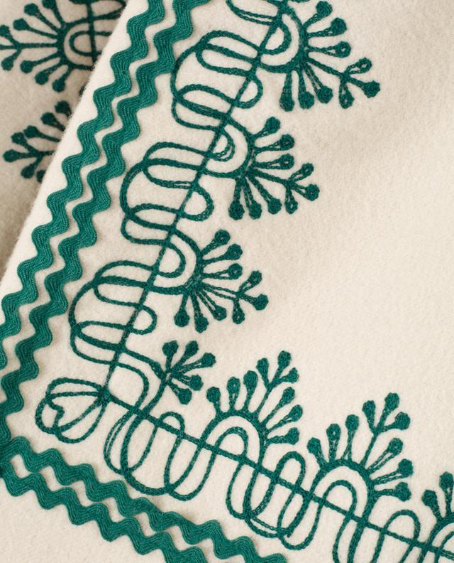 Amelia embroidered wool coat VILSHENKO