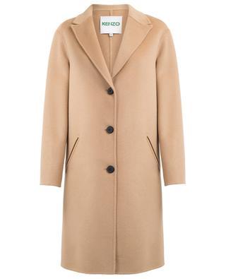 Manteau droit en laine et cachemire KENZO