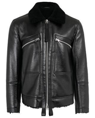 Jacke aus Leder und Wolle TOM FORD