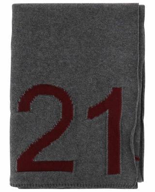 Écharpe en laine vierge avec logo N°21