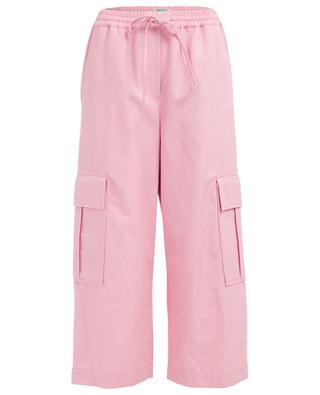 Wide-leg cotton and wool blend trousers KENZO