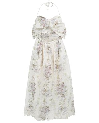 Iris Picnic midi-length linen floral dress ZIMMERMANN