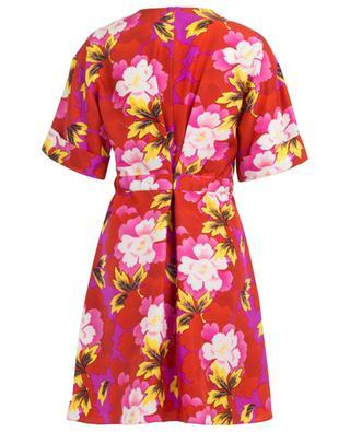 Indonesian Flowers short silk dress KENZO