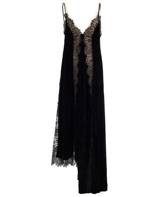 Langes Kleid aus Samt, Seide und Spitze STELLA MCCARTNEY
