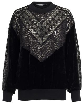 Velvet and lace top STELLA MCCARTNEY
