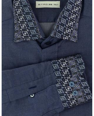 Baumwollhemd mit Paisley-Kragen New Warrant ETRO