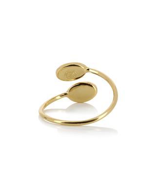 Verstellbarer, goldener Ring Cab Ovale CAROLINE NAJMAN