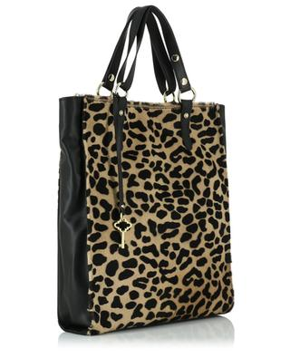 Leather and calf hair shoulder bag GIANNI CHIARINI