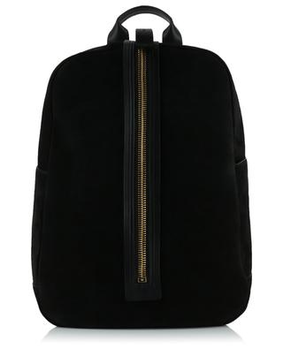 Suede and leather backpack TOM FORD
