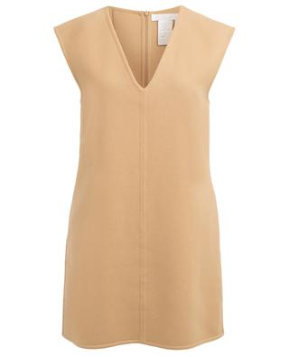 Barley Brown virgin wool pinafore dress CHLOE