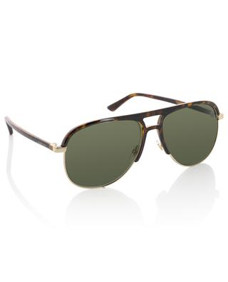 Sonnenbrille aus Metall und Acetat GUCCI