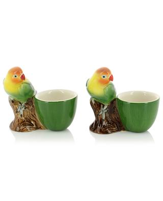 Set aus zwei Eierbechern Love Bird QUAIL