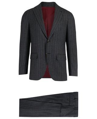 Gestreifter Anzug aus Wolle CARUSO