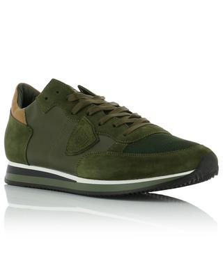Tropez suede, leather and fabric sneakers PHILIPPE MODEL