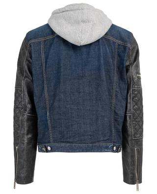 Denim, sweat and leather jacket DSQUARED2