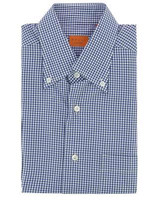 Chemise en coton à carreaux vichy et col boutonné BRULI