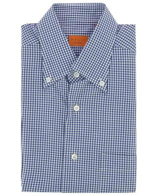 Gingham check cotton shirt with button-down collar BRULI