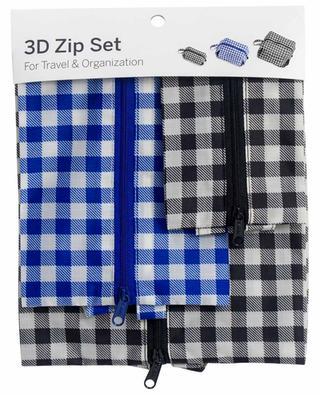 Ensemble de trousses de voyage 3D Zip Set BAGGU