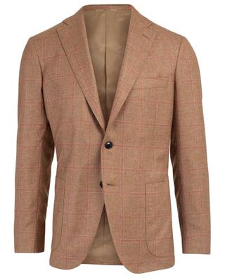 Check silk and cashmere blazer BELVEST