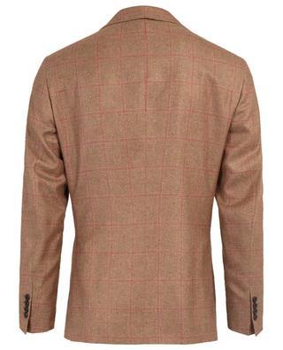 Check silk and cashmere blazer BELVEST
