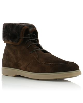 Suede and shearling ankle boots SANTONI