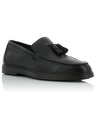 Padded grainy leather loafers SANTONI