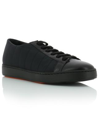 Fabric and leather low-top sneakers SANTONI