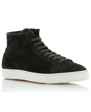 Suede and shearling sneakers SANTONI