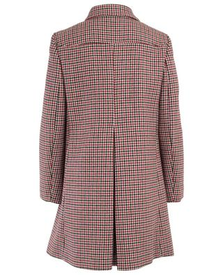 Checked wool blend coat RED VALENTINO