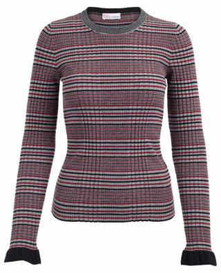 Pull chaussette rayé en laine vierge RED VALENTINO