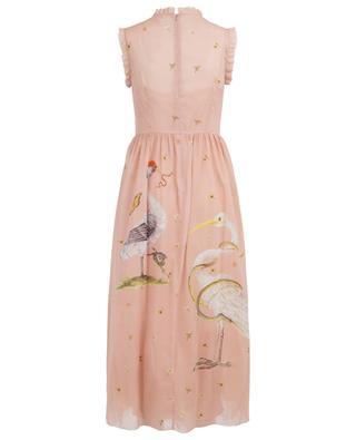 Langes Kleid aus Seide und Tüll mit Print RED VALENTINO