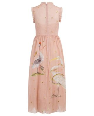 Printed long silk and tulle dress RED VALENTINO