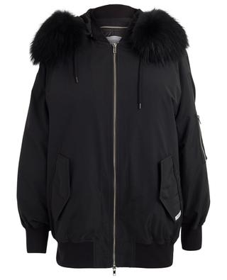 Quilted jacket with fur FORTE COUTURE