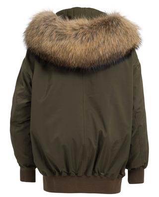 Maxi Green fur clad bomber jacket FORTE COUTURE