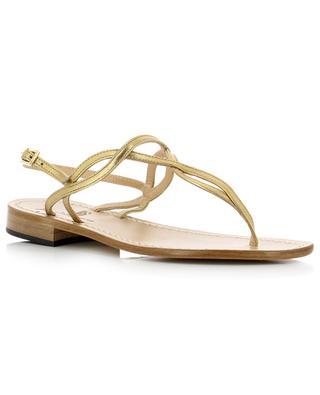 Metallic leather sandals PAOLO FERRARA