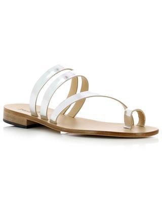 Flache Sandalen aus Metallic-Leder PAOLO FERRARA