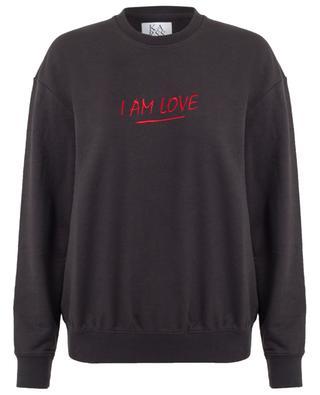Sweatshirt aus Baumwollmix I Am Love ZOE KARSSEN