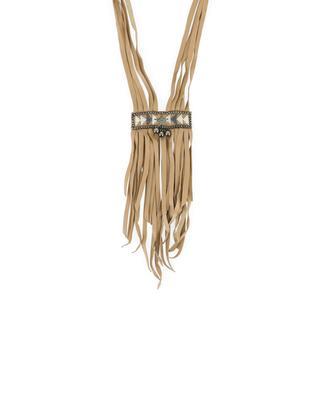 Halskette aus Leder und Perlen FIONA PAXTON