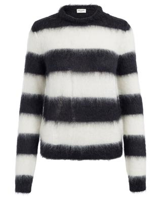 Striped mohair blend jumper SAINT LAURENT PARIS