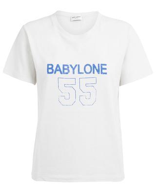 T-Shirt im Used-Look Babylone SAINT LAURENT PARIS