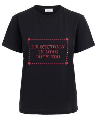 T-shirt en coton SAINT LAURENT PARIS