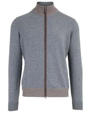 Virgin wool and cashmere blend zippered cardigan GRAN SASSO