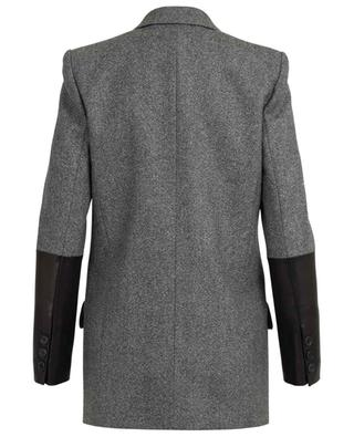 Blazer aus Wolle und Leder BARBARA BUI