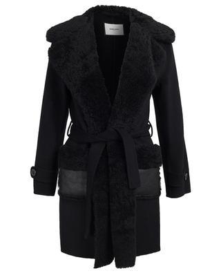 Mantel aus Wolle und Leder Ralph MAX ET MOI