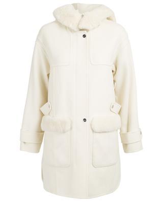 Duffle-coat en laine et peau lainée Rounda MAX ET MOI