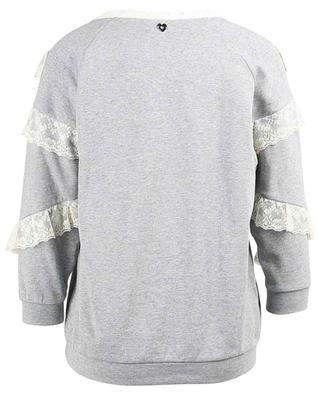 Sweat-shirt en coton et dentelle TWINSET